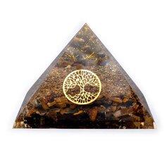 Tiigrisilma ja elupuuga orgon-püramiid