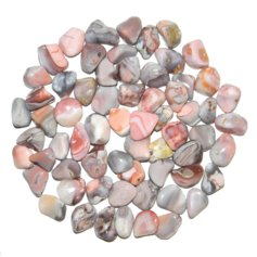 Agate, pink, tumbled (1 piece)