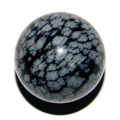 Snowflake Obsidian Sphere