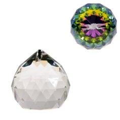 Kristallist kerakujuline feng shui päikesepüüdja, mitmevärviline