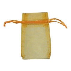 Organza Bag for Crystals, Gold