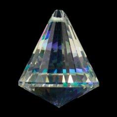 Kristallist koonusekujuline feng shui päikesepüüdja, vikerkaarevärviline