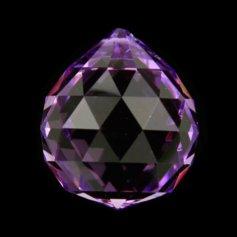 Kristallist kerakujuline feng shui päikesepüüdja, violetne