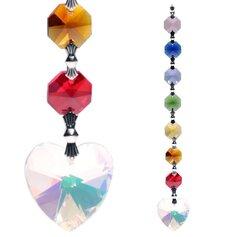 Kristallist südame ja tšakrakristallidega päikesepüüdja
