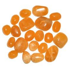 Orange Calcite, tumbled (1 piece)