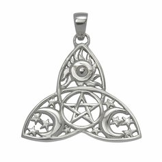 Symbol of the Great Goddess - Trinity Knot, STG silver
