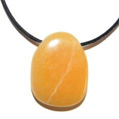 Orange Calcite, Drilled