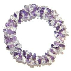 Ametüsti ja mäekristalliga kolmekordne spiraalne käepael