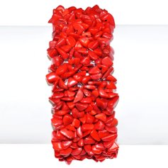 Red dyed Coral Knitted Bracelet