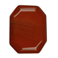 Punasest jaspisest tahuline lapik kivi