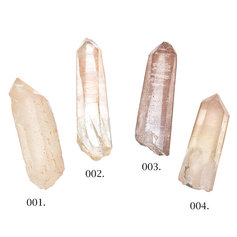 Pink Lemurian Quartz point 001-004