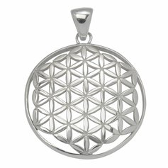 Flower of Life Pendant, STG Silver