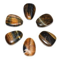 Tiigrisilmast/kullisilmas lapik kivi (1 tk)