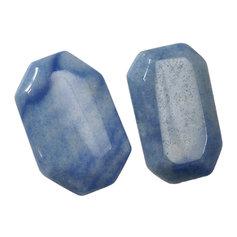 Sinisest kvartsist tahuline lapik kivi (1 tk)