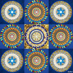 Mandalaväli 4: Kolmikjumalanna toetus, 2018, raamitud