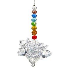Kristallist lootosekujuline feng shui päikesepüüdja tšakrakristallidega