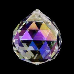 Kristallist kerakujuline feng shui päikesepüüdja, vikerkaarevärviline 2