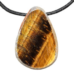 Tiger Eye  Drop Shaped, Drilled