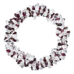 Granaadi ja mäekristalliga kolmekordne spiraalne käepael