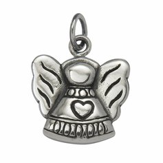 Hearty Angel Pendant, STG Silver
