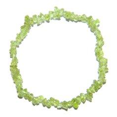 Oliviinist kivikestega käepael