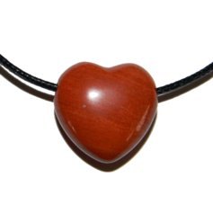 Red Jasper Heart, Drilled
