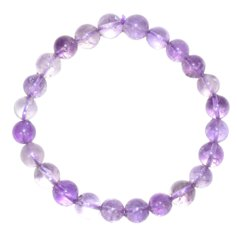 Amethyst Bracelet with 7 mm Stones