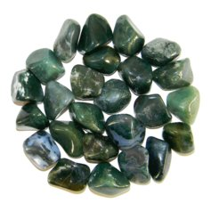 Moss Agate, tumbled (1 piece)