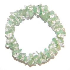 Aventurine and Rock Crystal Chip Bracelet 3 in 1