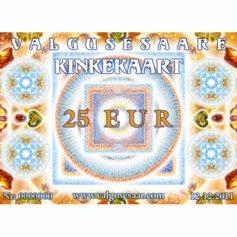 Valgusesaare kinkekaart 25 EUR