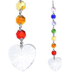 Kristallist tingimusteta armastuse südame ja tšakrakristallidega päikesepüüdja