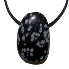 Snowflake Obsidian, Drilled