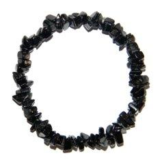 Mustast turmaliinist kivikestega käepael