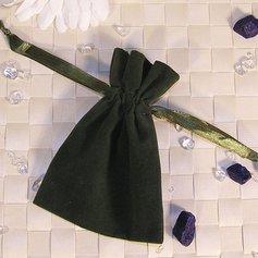Velvet bag, olive green